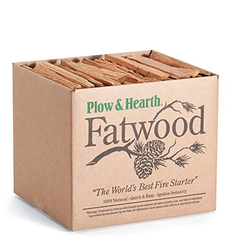 Plow & Hearth Fatwood Fire Starter - 10 Pounds