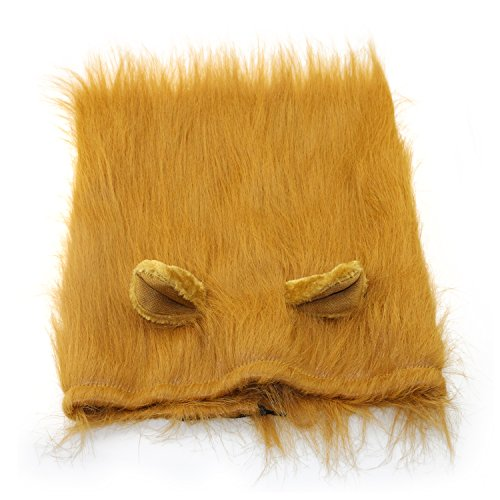 [Fixget Lion Mane Pet Costume Wig for Dog Halloween Christmas Festival Fantasy Dress Clothes Dog] (Dog Lion Costume Large)