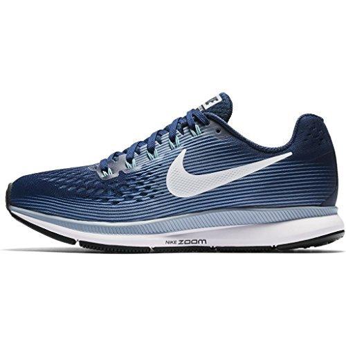 Nike Women's Air Zoom Pegasus 34 Running Shoe Binary Blue/White-Glacier Grey-Cerulean 10.5