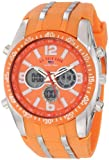 U.S. Polo Assn. Sport Men's US9285 Orange and Silver-tone Watch
