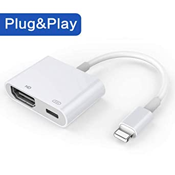 Mangoo Adaptador a HDMI convertidor de Cable de Phone a HDMI, 1080P Adaptador Digital AV Conector para Phone XS/XR/X/8/7/6/5 Series/Pad Air/Mini/Pro: Amazon.es: Industria, empresas y ciencia
