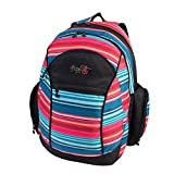 FOXY Backpack with Multiple Compartments, Multi Stripe Print, Under Seat