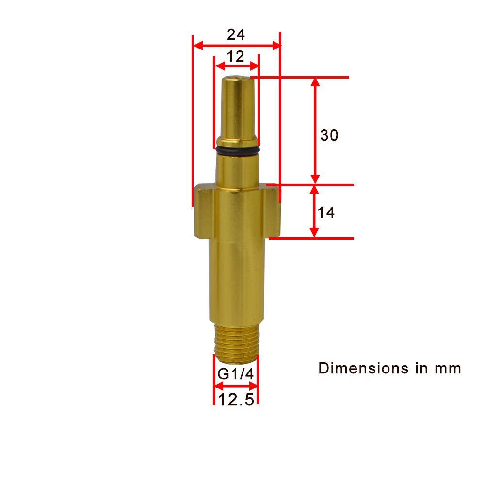 Adattatore in metallo ottone Ugello in schiuma Generatore di schiuma Idropulitrice Schiuma di sapone per AR// Black Decker// Mac Allister// Michelin// Makita Skil 0760// Bosch Idropulitrici