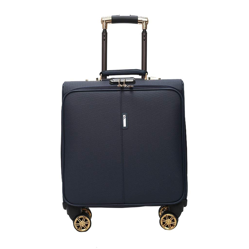 ZAQXSW-xlx PUビジネス搭乗ミニ学生スーツケース18インチユニバーサルホイールトロリーケース (Color : Blue) B07SY7GHQ1 Blue