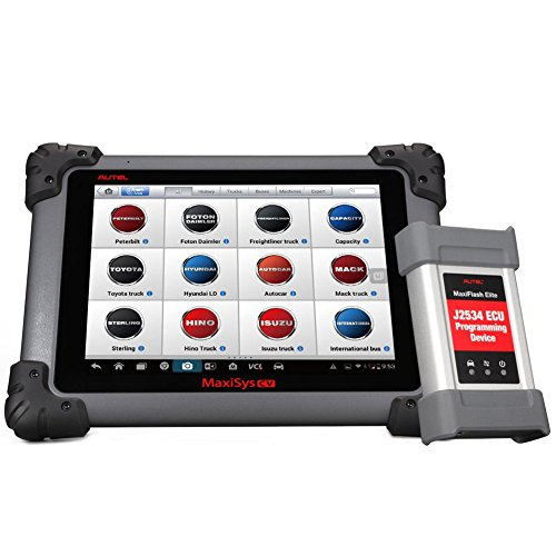 Autel Maxisys CV MS908CV Heavy Duty Diagnostic Tool with J-2534 ECU Programming, BT, WiFi Connection