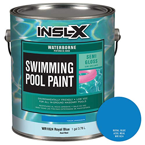 INSL-X WR102409A-01 Waterborne Semi-Gloss Pool Paint, 1 Gallon, Royal Blue (Building A Swimming Pool Step By Step)