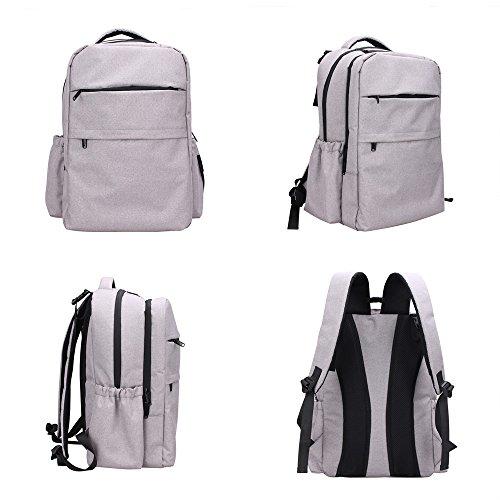 YuHan Oxford bebé mochila bolsa de pañales pañal Pad Aislamiento Bolsa para cochecito gris gris