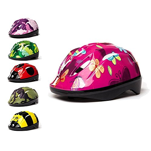 3StyleScooters - Kids Cycle Helmet in 6 Awesome Designs - for Cycling, Skating, Scooting - Adjustable Headband 49cm - 55cm - for Kids Aged 3-11 Years Old (Butterfly)