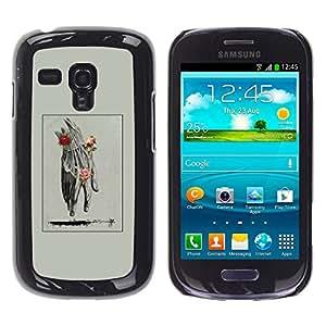 iKiki Tech / Estuche rígido - Hand Man Spring Deep Meaning Rose - Samsung Galaxy S3 MINI NOT REGULAR! I8190 I8190N
