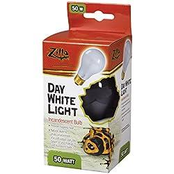 Zilla Reptile Terrarium Heat Lamps Incandescent Bulb, Day White, 50W