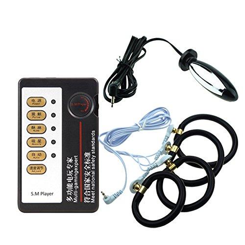 Electro Shock Penis Ring Anal Plug Stimulation Sex Toys Medical Electric Shock Cock Ring Enlarger Prostate Massage For Men