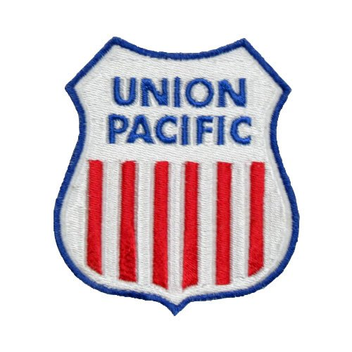 Union Pacific Railroad Novelty Logo Patch Collectible Transportation Classic Iron-On Emblem (Railroad Logo)