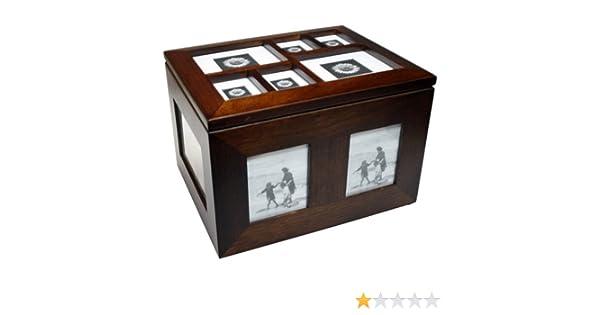 Caja de Madera Portafotos mod. 2296 Portafotos 160 Fotos: Amazon ...