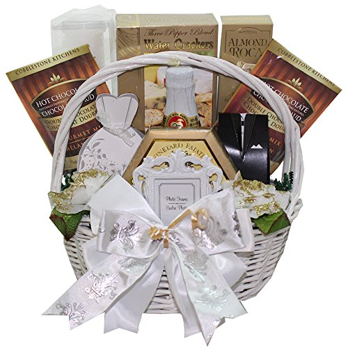 Art of Appreciation Gift Baskets Best Wishes to You Wedding Gourmet Food Gift Basket, Small (Candy)