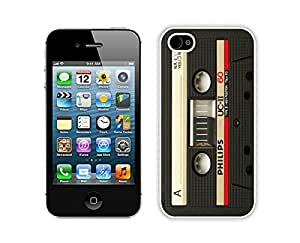 Nice Apple Iphone 4s Case Durable Soft Silicone pc Classical Audio Cassette Diy White Mobile Phone Case Cover for Iphone 4