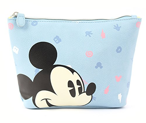 Disney Mickey Mouse Pattern Pouch with Zipper Closure (Pattern Zipper)