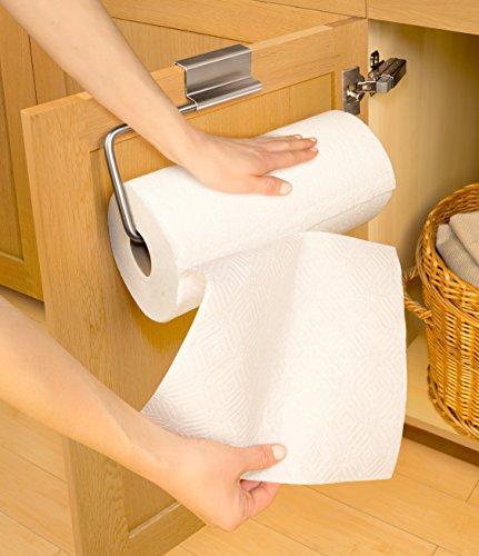 Youcopia Over The Cabinet Door Stainless Steel Paper Towel