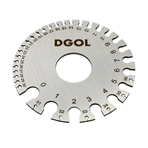 (DGOL Round Cable Sheet Stainless Steel SWG Wire Gage Standard Thickness Metal Gauge)