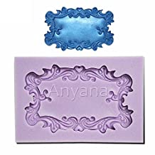Anyana Many PHoto Frames Mirror Silicone Mould Ornate Vintage fondant CAKE cupcake mold