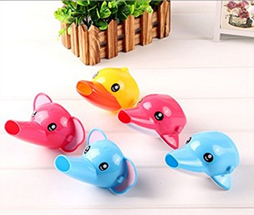 Wang-Data 5Pcs Cartoon Faucet Extender, Lovely Sink Handle Extender, Animal Spout Helper for Toddlers, Babies and Children Safe Funny Hand-washing by Wang-Data