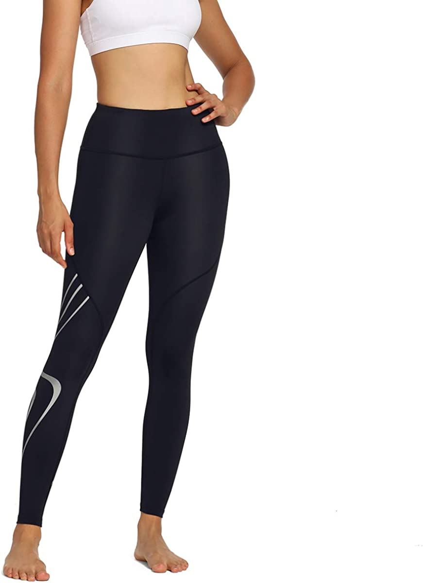 NICEWIN Womens High Waisted Leggings with Pockets for Yoga Workout Running Fitness Tummy Control Pants Plus Size