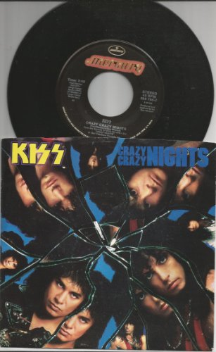 (crazy crazy nights 45 rpm single)