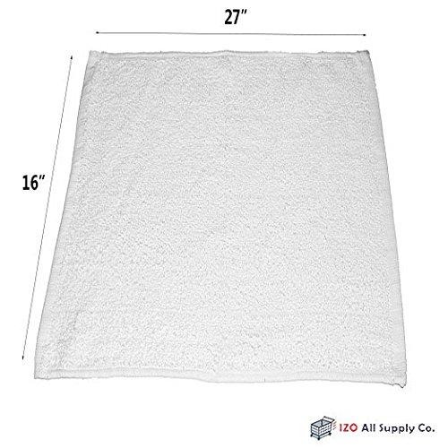 IZO.BATH - Cotton Washcloths - Premium Salon Towels - 100% Soft Ring Spun Cotton Washcloths, Highly Absorbent, 16x27, 24-Pack, Hand-Face Towels (White)