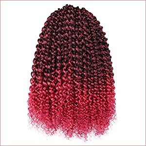 "7 Packs 14 Inch Passion Twist Hair Water Wave Crochet Braids for Passion Twist Crochet Hair Passion Twist Braiding Hair Hair Extensions (14"" 7Packs, 1B)"