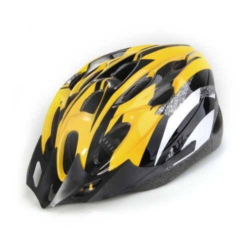 Dcolor-Yellow-Black-Mountain-Road-Bicycle-Bike-Cycling-Safety-Unisex-Helmet-Visor-L