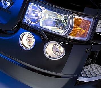 4 piezas acero inoxidable anillos decoraciones de luces antiniebla para camiones Scania serie R: Amazon.es: Coche y moto