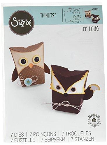(Sizzix 661133 Box Owl & Fox Thinlits Die Set by Jen Long)