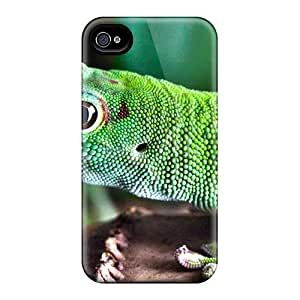 Flexible Tpu Back Case Cover For Iphone 4/4s - Green