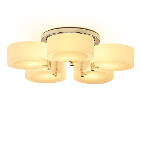 Kusun ® Moderno 5-Head luces de techo Hoja blanca Lámpara ...