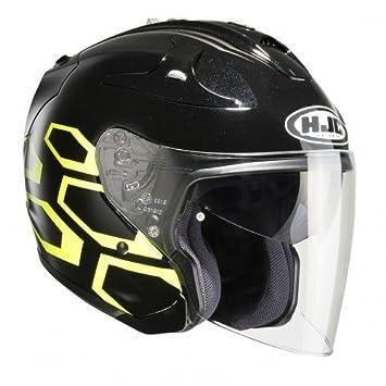 HJC 144104 X S Casco Moto, Negro/Amarillo, XS