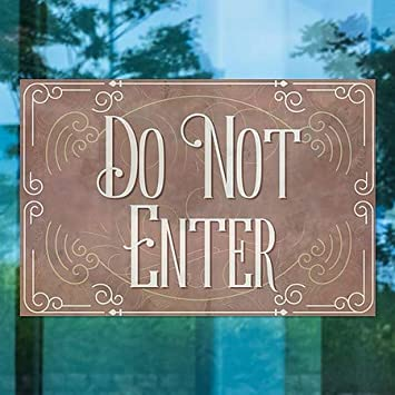 30x20 5-Pack Victorian Card Clear Window Cling CGSignLab Do Not Enter