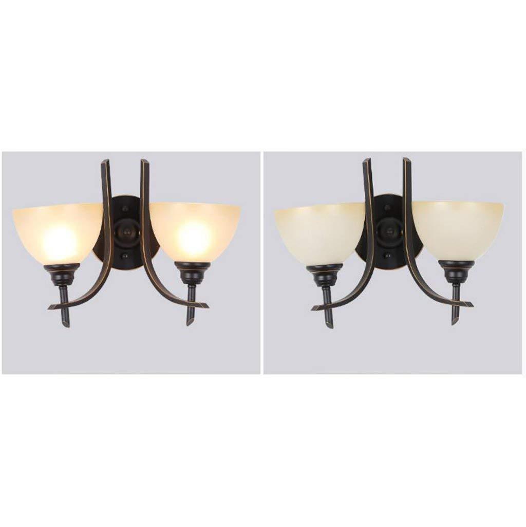 GZ Muebles para el hogar Retro Estilo Industrial Decoración Lámpara de Noche Estilo Americano Sala de Estar Dormitorio Lámpara de Pared Lámparas de Hierro Luz