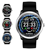 Smart Watch, KUNGIX Sport Fitness Tracker Watch with Heart Rate Monitor, IP67 Waterproof