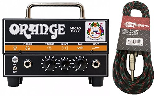 Orange Micro Dark Mini Valve Hybrid 20 Watt Guitar Amp Head w/Effin Tweed Cable by Orange