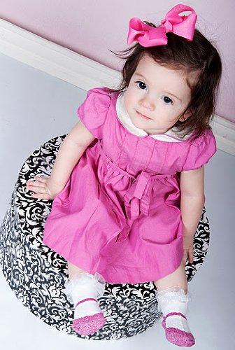 in cotone motivo false scarpe con borsa in regalo rosso XS Baby Emporio/Calzini da bambina