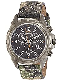 Timex Men's T499879J Expedition Rugged Chronograph Watch with Green Camouflage Band