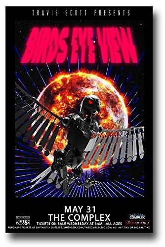 Travis Scott Poster Concert Promo 11 x 17 inches Birds Eye View Tour SLC