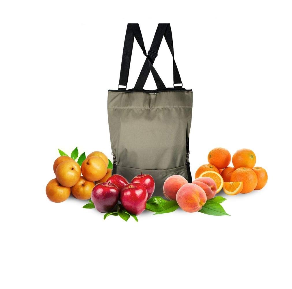 HYINDOOR Garden Picking Apron Fruit Picking Bag Vegetable Harvest Storage Pouch Adjustable Size