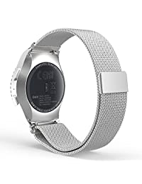 Gear S2 Classic Watch Band, MoKo Milanese Loop Stainless Steel Bracelet Smart Watch Strap ONLY for Samsung Gear S2 Classic SM-R732 with Unique Magnet Lock, No Buckle Needed, SILVER
