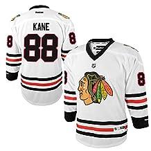 Patrick Kane Chicago Blackhawks #88 NHL Youth Away Jersey White (Youth S/M)