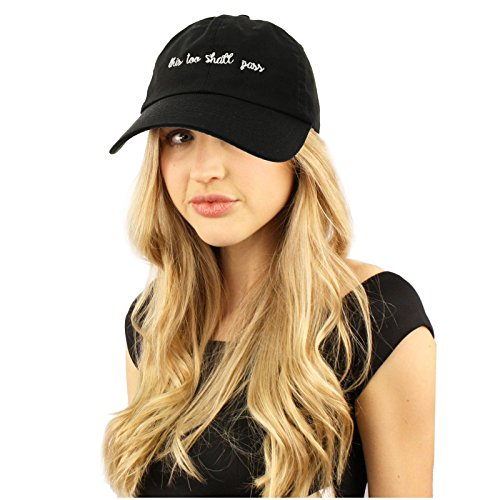 Women's Rights Feminist Cotton Baseball Sun Visor Cap Dad Hat this too shall pass (Black) (Cotton Embroidered Visor)