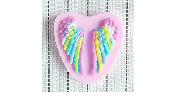 Molde de silicona 3D forma de alitas de angelito. Para pastel, pasta de azucar, fondant, pasteleria, chocolates: Amazon.es: Hogar