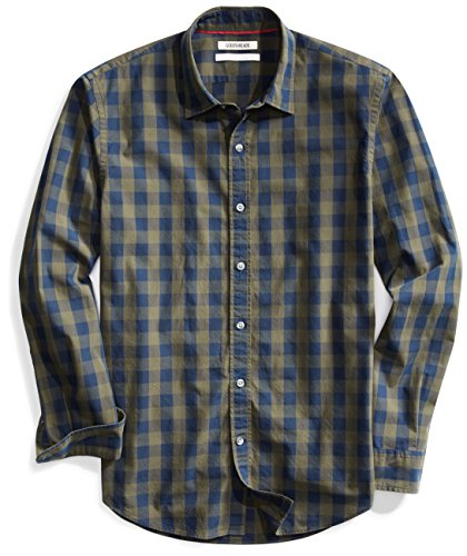 Goodthreads Men's Standard-Fit Long-Sleeve Large-Scale Check Shirt - stylishcombatboots.com