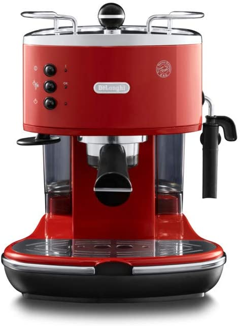 DeLonghi ECO 311 Cafetera automática independiente, 1100 W, 1.4 L, 15 bares, 2 tazas, acero inoxidable, rojo: Amazon.es: Hogar
