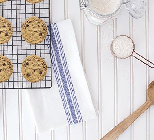 Value Basics Herringbone Stripe Kitchen Towel Set, 15'' x 25'', 14-Pack, Blue & White by Value Basics (Image #7)