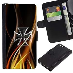 Paccase / Billetera de Cuero Caso del tirón Titular de la tarjeta Carcasa Funda para - Abstract Celtic Cross - Apple Iphone 6 PLUS 5.5